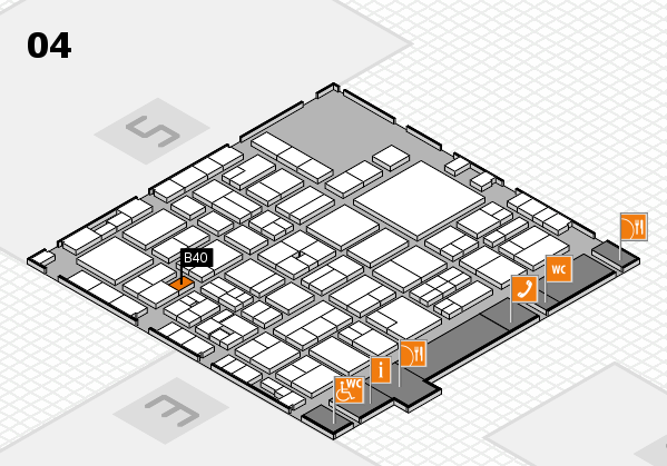 EuroShop 2017 hall map (Hall 4): stand B40