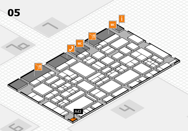 EuroShop 2017 hall map (Hall 5): stand A43