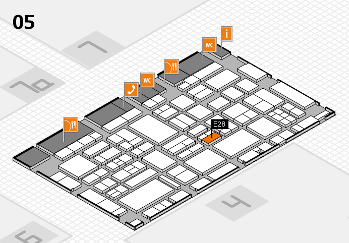 EuroShop 2017 hall map (Hall 5): stand E28