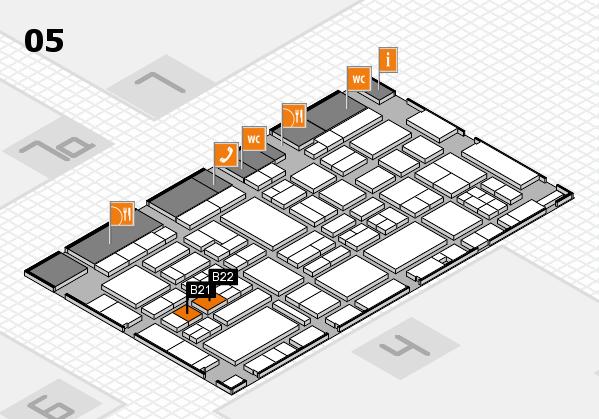 EuroShop 2017 hall map (Hall 5): stand B21, stand B22