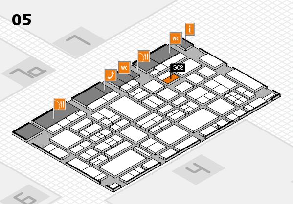 EuroShop 2017 hall map (Hall 5): stand G08