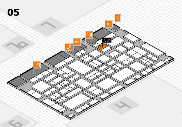 EuroShop 2017 hall map (Hall 5): stand G04