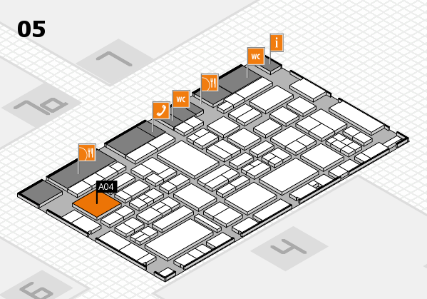 EuroShop 2017 hall map (Hall 5): stand A04