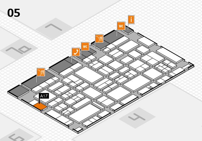 EuroShop 2017 hall map (Hall 5): stand A17