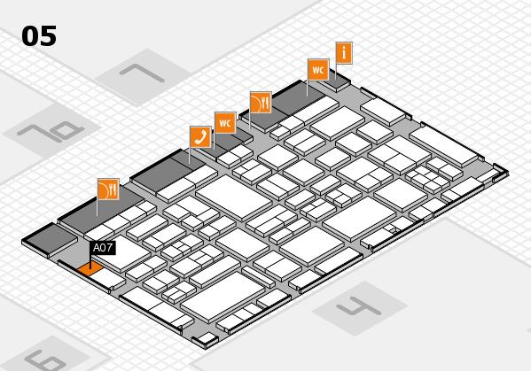 EuroShop 2017 hall map (Hall 5): stand A07