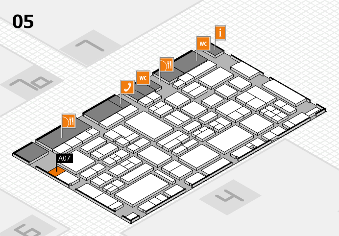 EuroShop 2017 hall map (Hall 5): stand A07