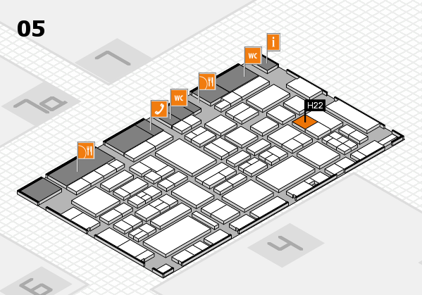 EuroShop 2017 hall map (Hall 5): stand H22