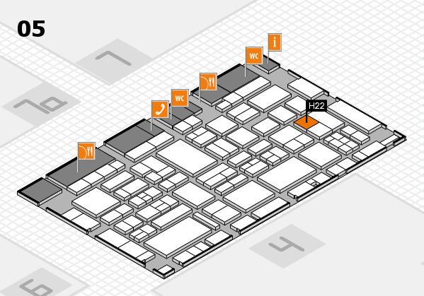 EuroShop 2017 hall map (Hall 5): stand H22