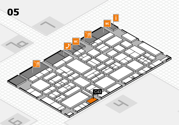 EuroShop 2017 hall map (Hall 5): stand C43
