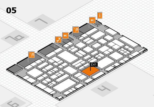 EuroShop 2017 hall map (Hall 5): stand E41