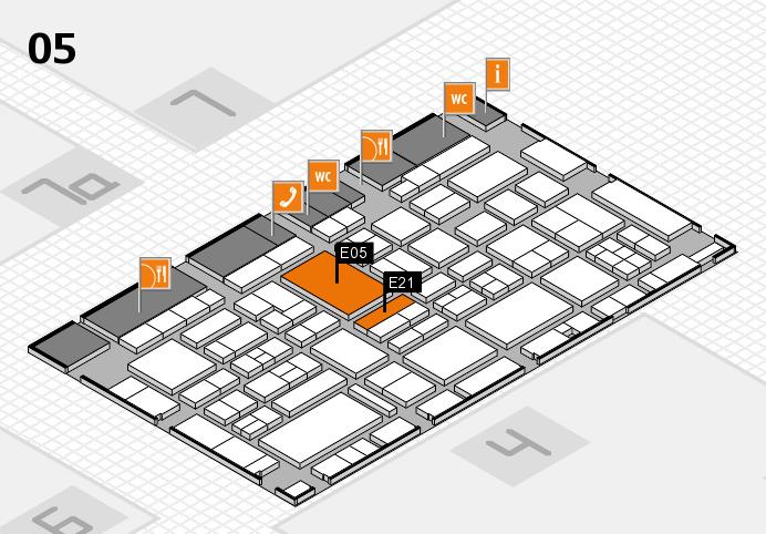 EuroShop 2017 hall map (Hall 5): stand E05, stand E21