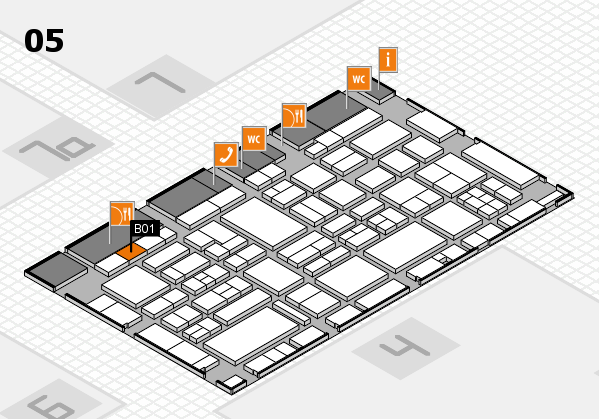 EuroShop 2017 hall map (Hall 5): stand B01
