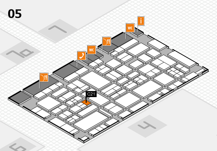 EuroShop 2017 hall map (Hall 5): stand C21