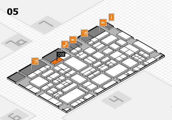 EuroShop 2017 hall map (Hall 5): stand C02