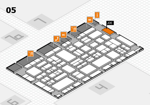 EuroShop 2017 hall map (Hall 5): stand J06