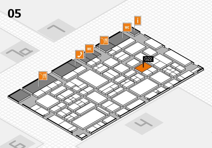 EuroShop 2017 hall map (Hall 5): stand G22