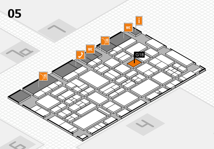 EuroShop 2017 hall map (Hall 5): stand G18