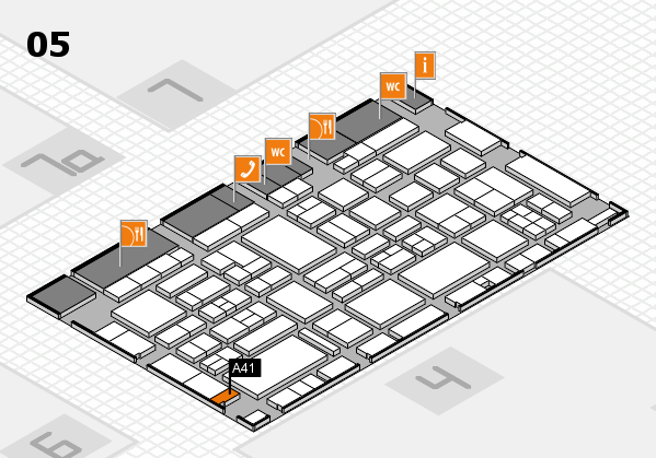 EuroShop 2017 hall map (Hall 5): stand A41