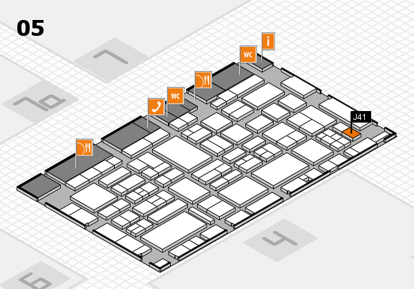 EuroShop 2017 hall map (Hall 5): stand J41