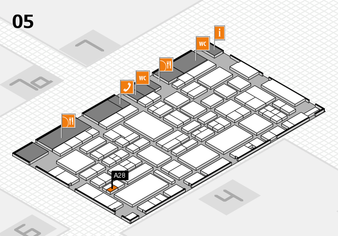 EuroShop 2017 hall map (Hall 5): stand A28