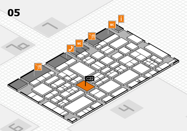 EuroShop 2017 hall map (Hall 5): stand C22