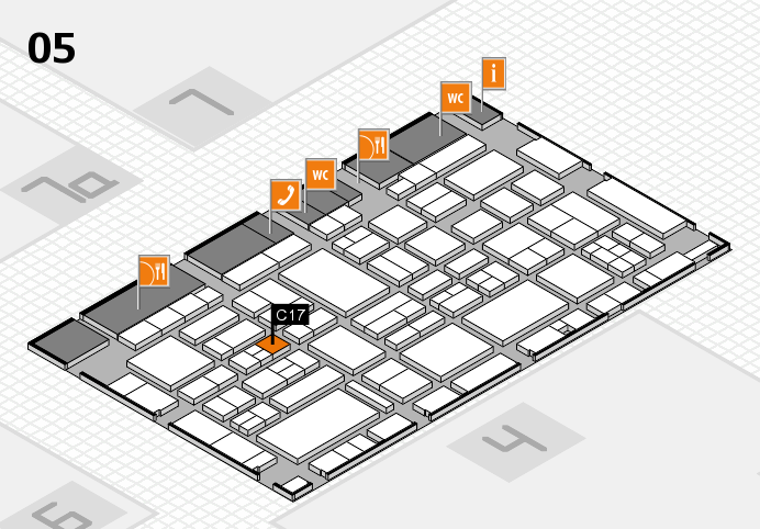 EuroShop 2017 hall map (Hall 5): stand C17
