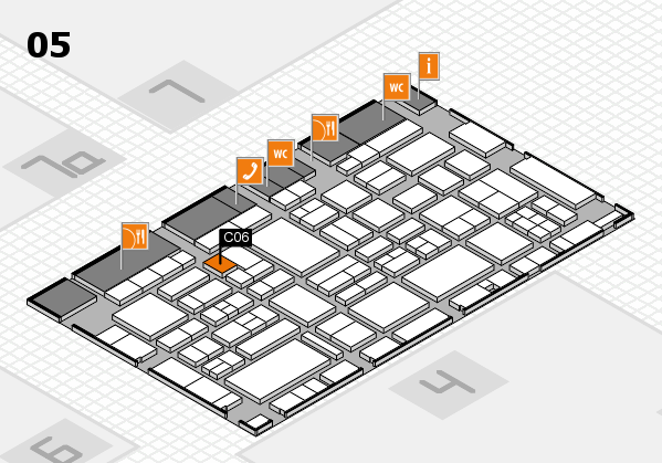 EuroShop 2017 hall map (Hall 5): stand C06