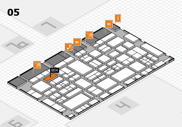 EuroShop 2017 hall map (Hall 5): stand B04