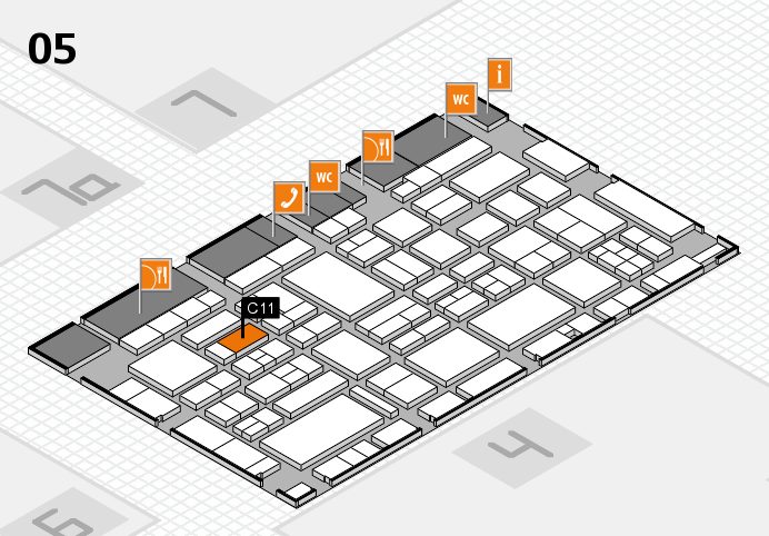 EuroShop 2017 hall map (Hall 5): stand C11