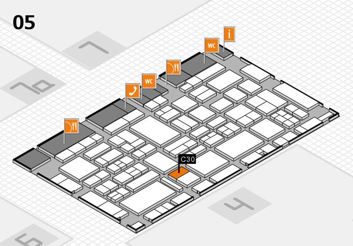 EuroShop 2017 hall map (Hall 5): stand C30