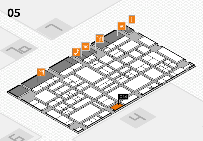EuroShop 2017 hall map (Hall 5): stand C44