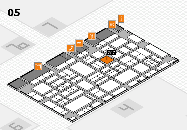 EuroShop 2017 hall map (Hall 5): stand G17