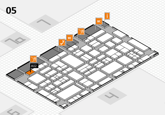 EuroShop 2017 hall map (Hall 5): stand A02