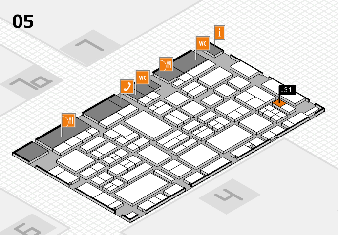 EuroShop 2017 hall map (Hall 5): stand J31