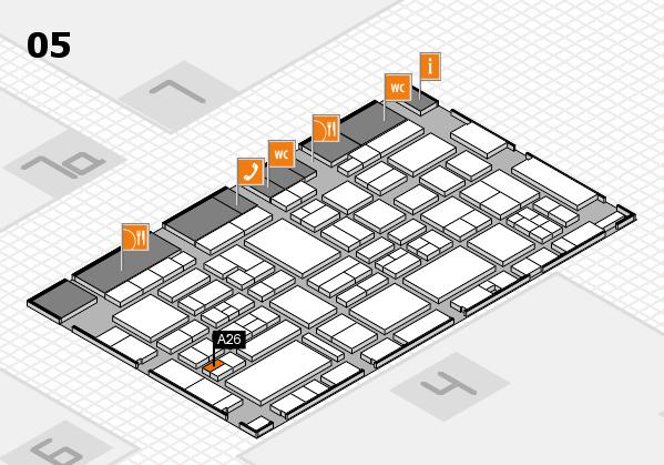 EuroShop 2017 hall map (Hall 5): stand A26
