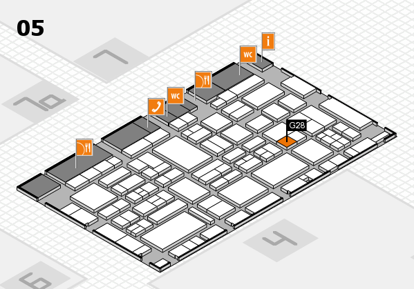 EuroShop 2017 hall map (Hall 5): stand G28
