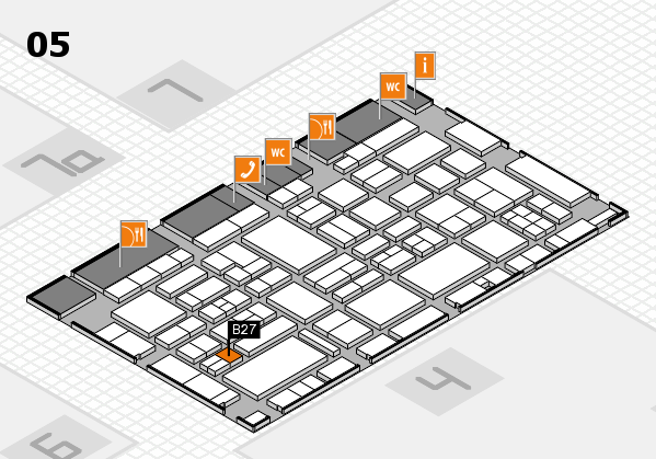 EuroShop 2017 hall map (Hall 5): stand B27