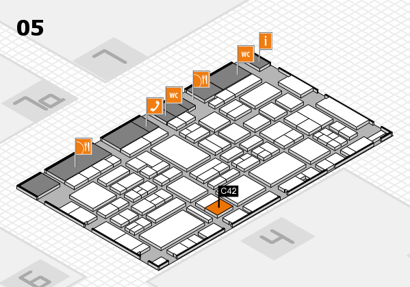 EuroShop 2017 hall map (Hall 5): stand C42