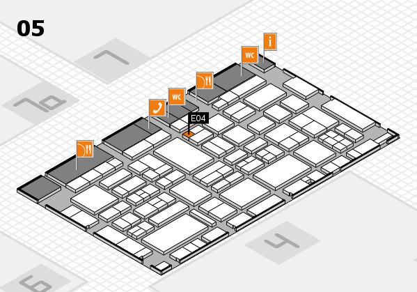 EuroShop 2017 hall map (Hall 5): stand E04