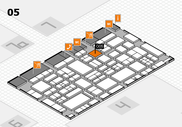 EuroShop 2017 hall map (Hall 5): stand G05