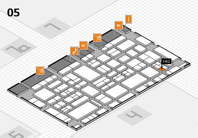 EuroShop 2017 hall map (Hall 5): stand H42