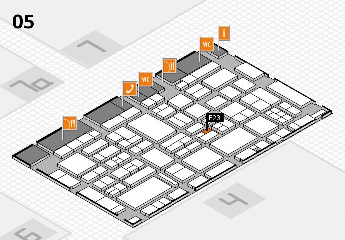 EuroShop 2017 hall map (Hall 5): stand F23