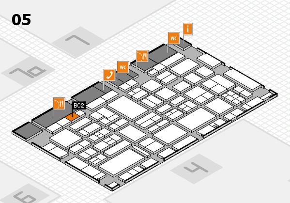 EuroShop 2017 hall map (Hall 5): stand B02