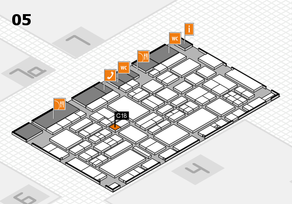 EuroShop 2017 hall map (Hall 5): stand C18
