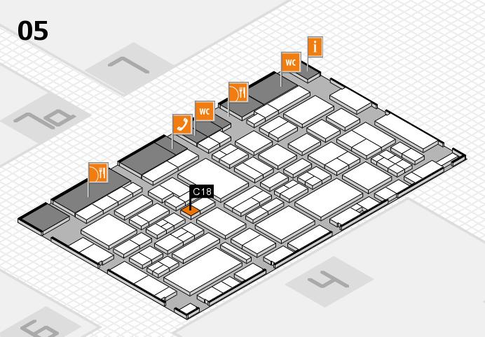 EuroShop 2017 hall map (Hall 5): stand C18