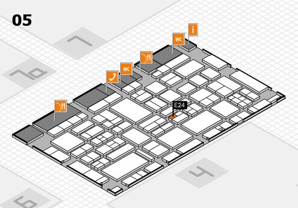 EuroShop 2017 hall map (Hall 5): stand E24
