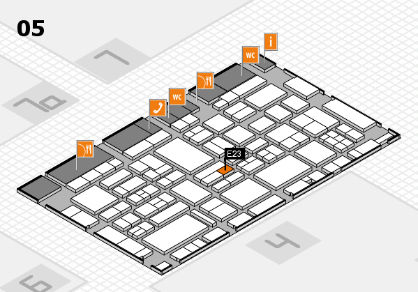 EuroShop 2017 hall map (Hall 5): stand E23