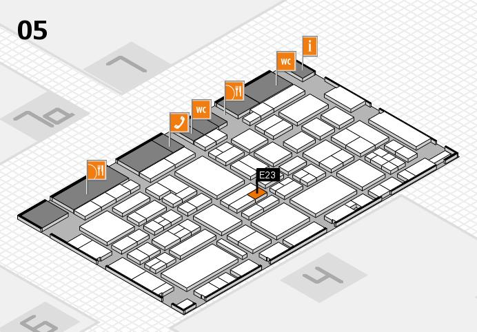 EuroShop 2017 hall map (Hall 5): stand E23
