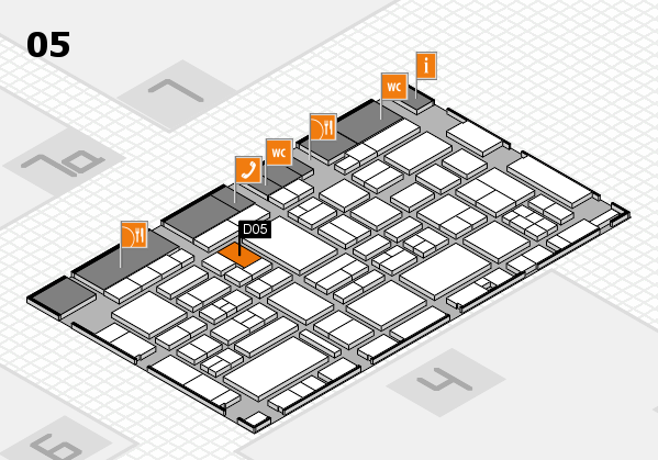 EuroShop 2017 hall map (Hall 5): stand D05