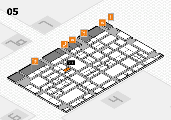 EuroShop 2017 hall map (Hall 5): stand D11
